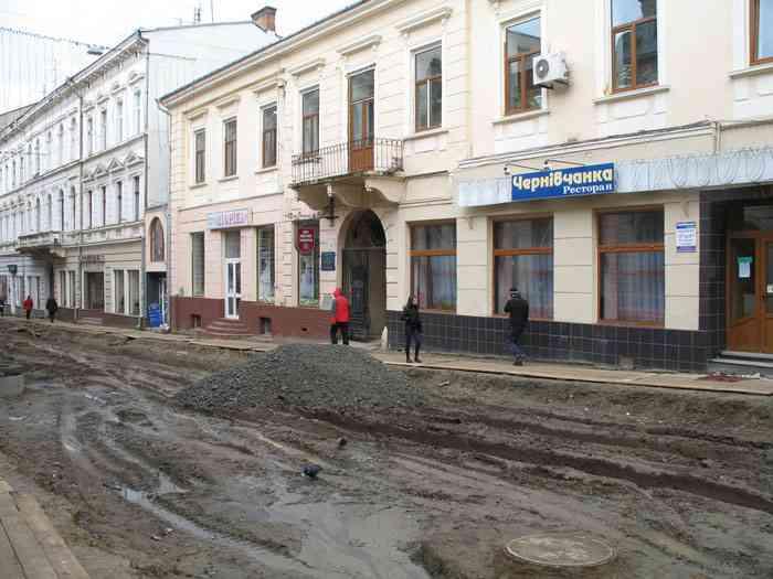 Сучасна вулиця Ольги Кобилянської