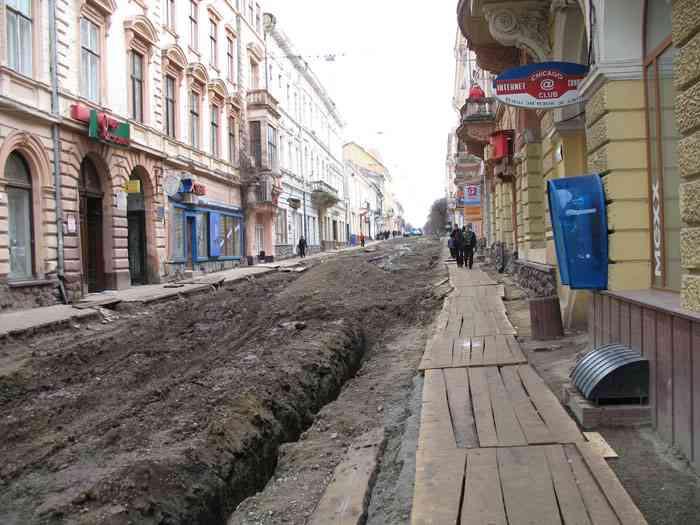 Чернівці, вулиця Ольги Кобилянської