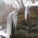 Зимові сталактити