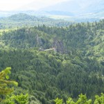 Вид з Острого каменя на фортецю