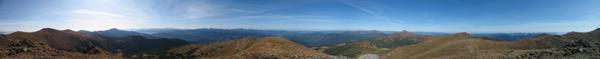 360°-градусна панорама Чорногірського хребта