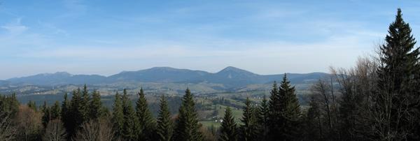 Горгани (зліва направо - Довбушанка, Малий Горган, Синяк, Хом'як)
