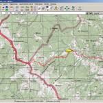 Трек в OziExplorer (карта - генштаб)