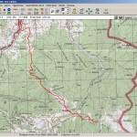 Трек в OziExplorer (карта – генштаб)