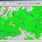 Трек в MapSource (топокарта Карпат)