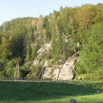 Скеля Лекечі - вигляд з дороги