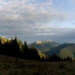 Захід сонця над Малим Горганом