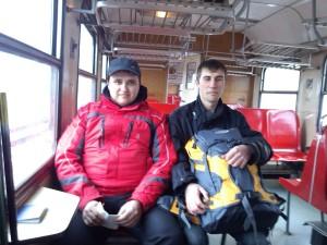 Той самий поїзд через кордон (фото з телефону)