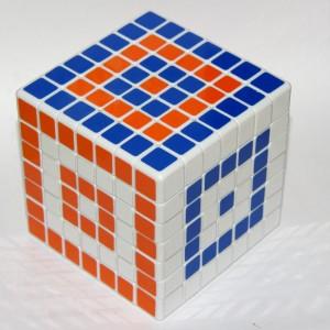 Кубик Рубика 7х7 (кольори попарно чергуються)