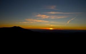 Захід сонця на Боржаві
