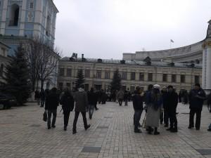 Всередині Михайлівського монастиря