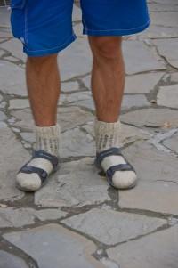 Вітя в своїх знаменитих шкарпетках