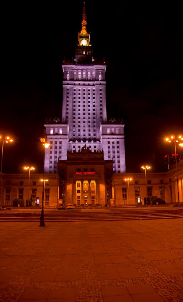 Нічна Варшава